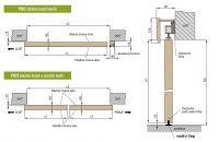 ERKADO - posuvný systém na stěnu + dorazový hranol